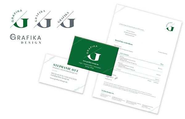 Grafika Design: Logo, Visitenkarte & Briefbogen