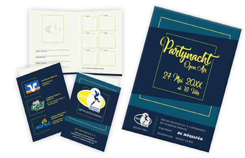 SSV Neustadt Sa: Mitgliedsausweis & Flyer zu bestehendem Logo