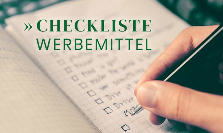 Checkliste: grafische Ausstattung und Werbemittel