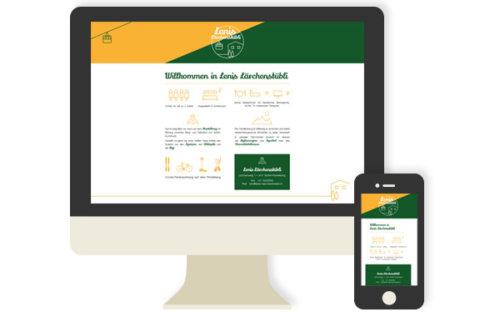 Lenis Lärchenstübli: responsive Webdesign
