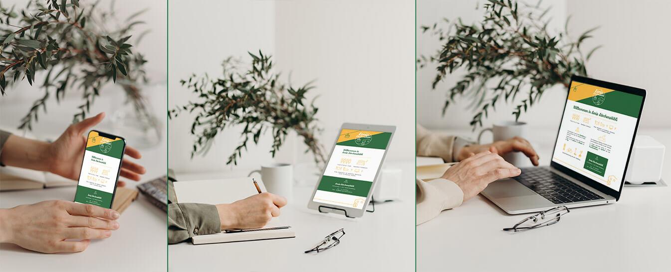 Referenz Lenis Lärchenstübli responsive Webdesign